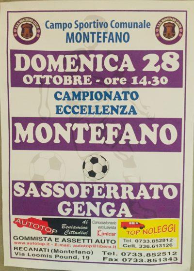 Montefano, che sfida col Sassoferrato Genga !